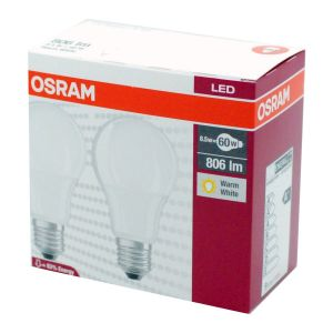 2 x LED Star Classic A 8.5W E27 W/827 OSRAM