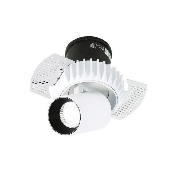 Lampy oświetlenie - Gemma Trimless LED SL74066/12W 3000K WH+BL Italux