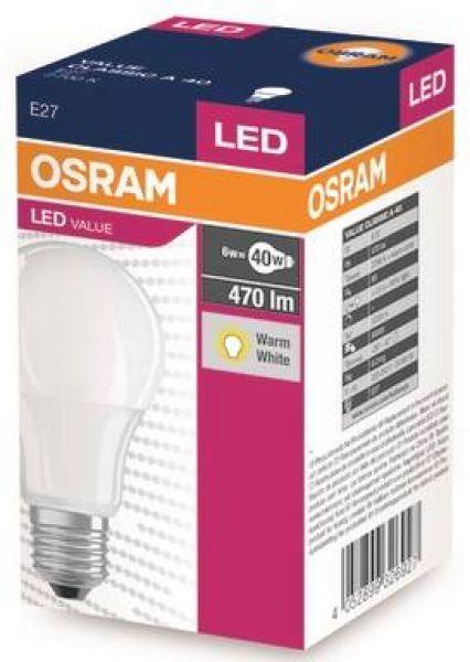 Lampy oświetlenie - Value Classic 6W E27 A40 FR OSRAM